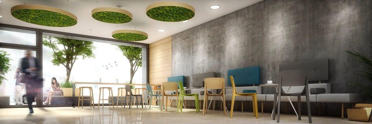 biofilický dizajn v reštaurácii
