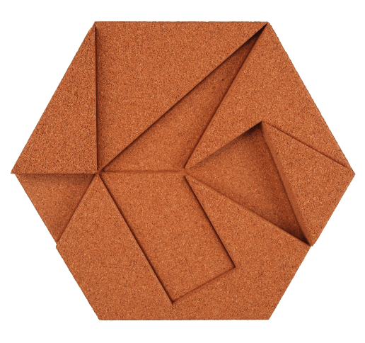 korkovy obklad hexagon medena