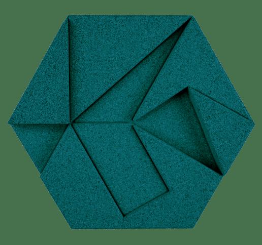 korkovy obklad hexagon smaragdova
