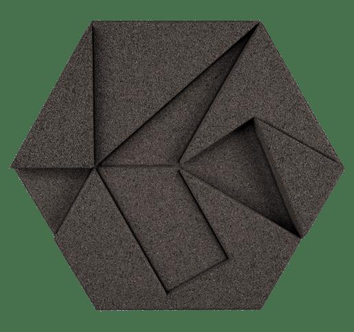 korkovy obklad hexagon sedy