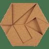 korkovy obklad hexagon prirodna