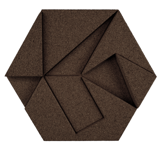 korkovy obklad hexagon fialova