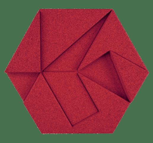 korkovy obklad hexagon cervena
