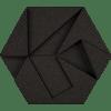 korkovy obklad hexagon cierna